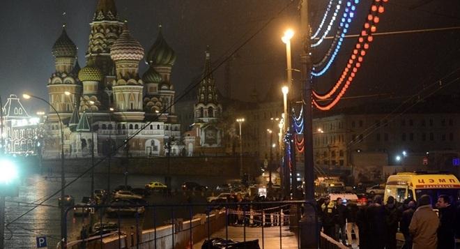 Khu vực xảy ra vụ sát hại ông Nemtsov.