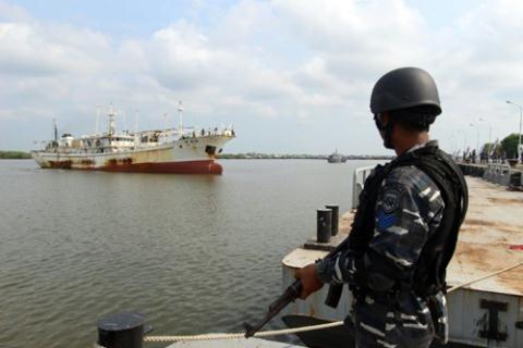 Một tàu Trung Quốc bị Indonesia bắt giữ hồi tháng 4 năm nay.