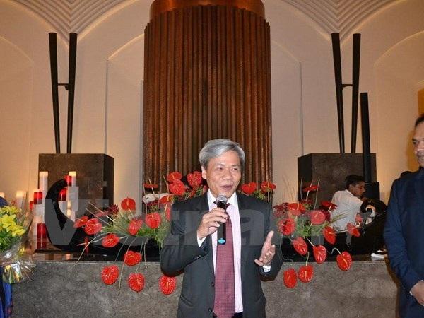 Đại sứ Tôn Sinh Thành phát biểu tại buổi lễ. (Ảnh: Huy Bình/Vietnam+)
