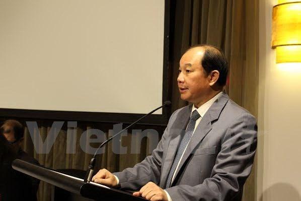 Thứ trưởng Nguyễn Cẩm Tú phát biểu tại Tọa đàm. (Ảnh: Sao Băng/Vietnam+)