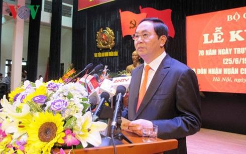 Chủ tịch nước Trần Đại Quang phát biểu tại buổi lễ