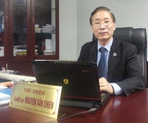 Luật sư Nguyễn Văn Chiến - Đại biểu Quốc hội khóa XIV, Phó Chủ tịch Liên đoàn Luật sư Việt Nam, Chủ nhiệm Đoàn Luật sư thành phố Hà Nội.