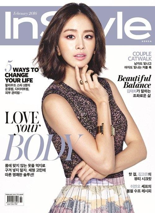 Kim Tae Hee trở thành gương mặt trang bìa của tạp chí In Style (Hàn Quốc), số tháng 2/106. Ngoài việc chia sẻ những hình ảnh mới nhất của bản thân, ngọc nữ của màn ảnh nhỏ xứ Hàn còn bật mí về chuyện tình giữa cô và Bi (Rain) cũng như những kế hoạch sắp tới.