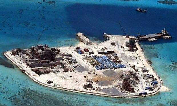Trung Quốc trắng trợn tăng cường bồi lấp, cải tạo và xây dựng ở Biển Đông. (Ảnh: AFP)