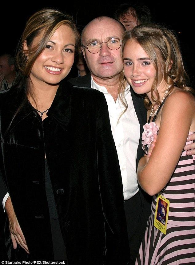 Phil cùng Orianne Cevey và con gái riêng của Phil (ngoài cùng bên phải) giờ cũng là một ngôi sao điện ảnh trẻ tại Hollywood.