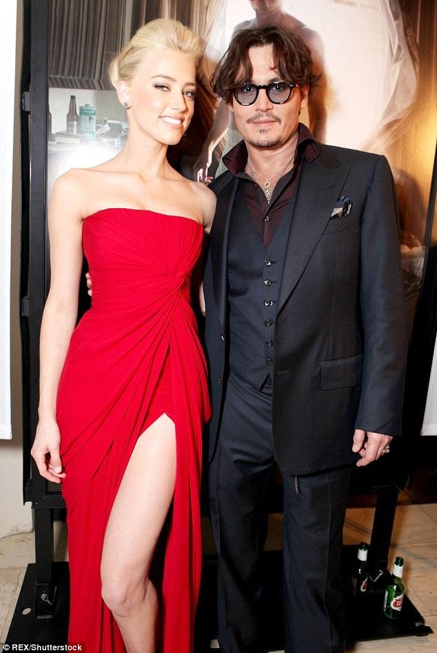 Amber Heard và Johnny Depp khi còn hạnh phúc bên nhau.