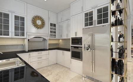 Phòng bếp rộng 22m2 và được chú trọng công năng đầy đủ để tiện trong sử dụng.