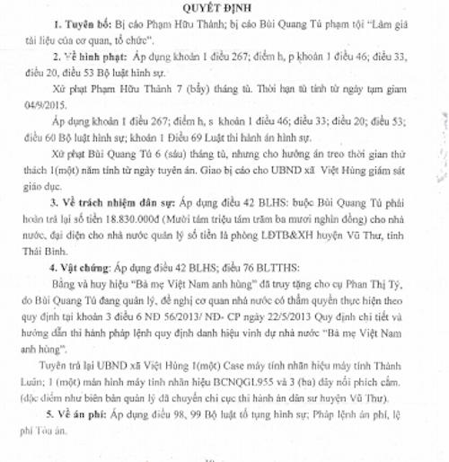 Một thương binh kêu oan khi bị quy kết làm giả hồ sơ đề nghị xét tặng Bà mẹ Việt Nam anh hùng - 5