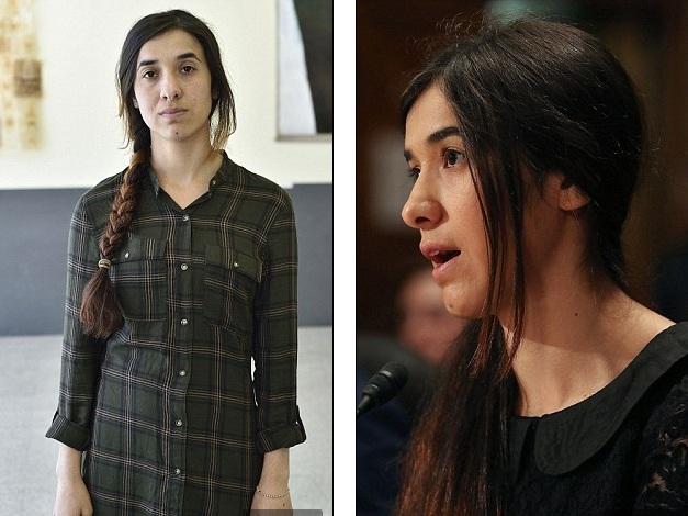 Nadia Murad đã bị tấn công tình dục nhiều lần trong thời gian 3 tháng (Ảnh: DM)