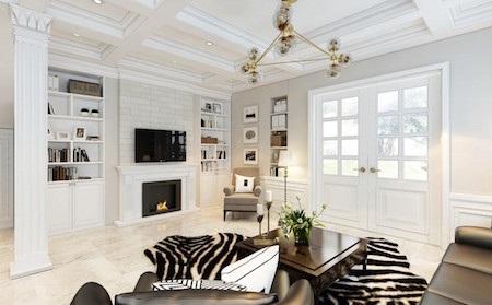 Tông màu trắng sữa và đen phối hợp tạo sự sang trọng cho ngôi nhà.