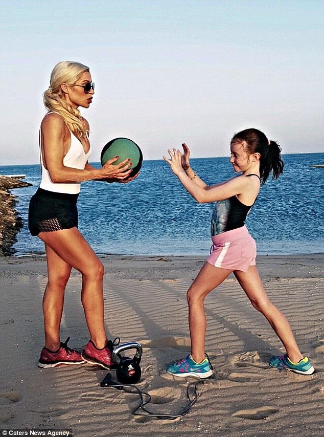 Simone hy vọng chế độ tập luyện của cô truyền cảm hứng được cho các con của mình.
