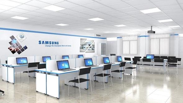 Phòng Samsung Lap được trang bị đầy đủ tiện nghi.