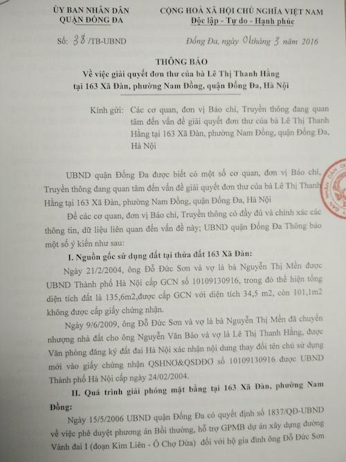 Hà Nội: Phó Chủ tịch phường bị kỷ luật vì xác nhận sai nguồn gốc đất - 1