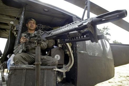 Binh sĩ Thái Lan tại tỉnh Narathiwat, cực Nam Thái Lan. Ảnh: Reuters