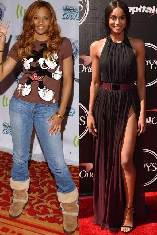 Giảm cân không chỉ giúp Ciara đẹp hơn mà còn lựa chọn trang phục thảm đỏ dễ dàng hơn. Khác với hình ảnh cô nàng mặc jeans, áo phông tới dự sự kiện của quá khứ, Ciara hiện tại luôn lựa chọn những chiếc váy với đường cắt xẻ ấn tượng tôn đường cong.
