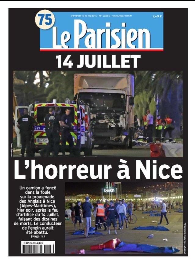 Báo chí Pháp đưa tin về vụ tấn công (Ảnh: AFP)