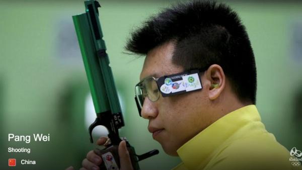 Pang Wei, đối thủ rất mạnh của Xuân Vinh ở loạt thi 50m súng ngắn hơi