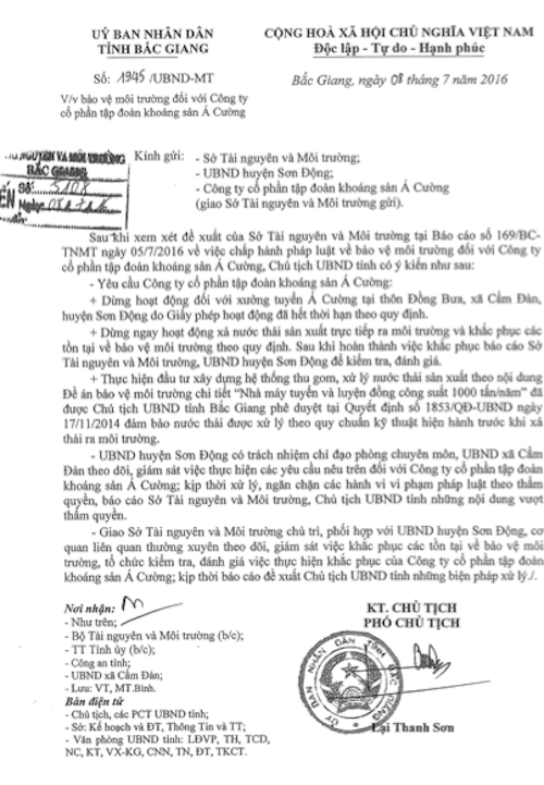 Chủ tịch tỉnh Bắc Giang ra tối hậu thư, dư luận chờ đợi xem thủ phạm còn nhờn thuốc?