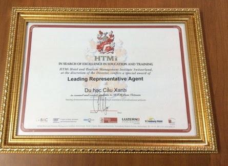 Du học Cầu Xanh tự hào được Học viện HTMi trao tặng danh hiệu đơn vị hỗ trợ tư vấn tuyển sinh xuất sắc nhất!