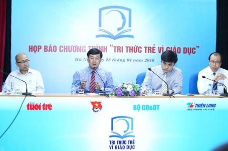 """Chương trình """"Tri Thức Trẻ Vì Giáo Dục"""" được phát động từ ngày 28/4/2016. (Ảnh: BTC cung cấp)"""