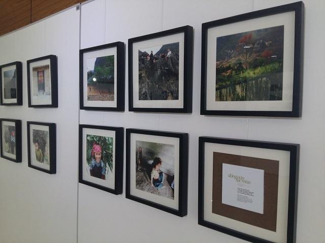 Một số tác phẩm nhiếp ảnh của sinh viên Hoa Sen trưng bày tại triển lãm.