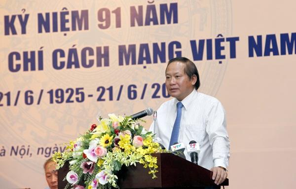 Bộ trưởng Trương Minh Tuấn phát biểu tại buổi gặp mặt.