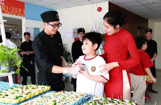 Một trong những hoạt động giáo dục dinh dưỡng bổ ích tại trường Quốc tế Việt Úc.