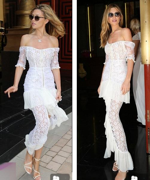 Abbey nổi bật trong bộ váy ren trắng của Alessandra Rich giá hơn 4000 đô la