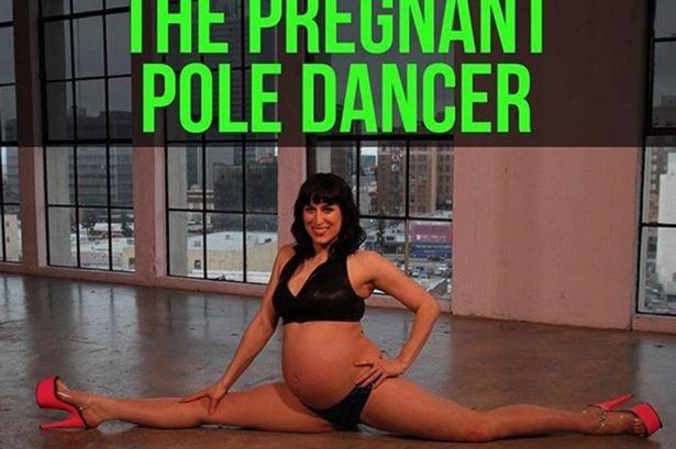 Gần đến ngày sinh, mẹ bầu vẫn múa cột - 1
