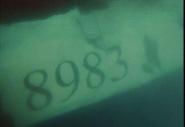 Mảnh vỡ từ thân máy bay có ghi rõ số hiệu 8983