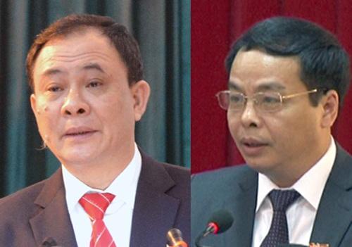 Bí thư tỉnh Yên Bái Phạm Duy Cường (trái) và Chủ tịch HĐND tỉnh này Ngô Ngọc Tuấn không thể qua khỏi vì vết thương quá nặng từ phát súng ở cự ly gần.