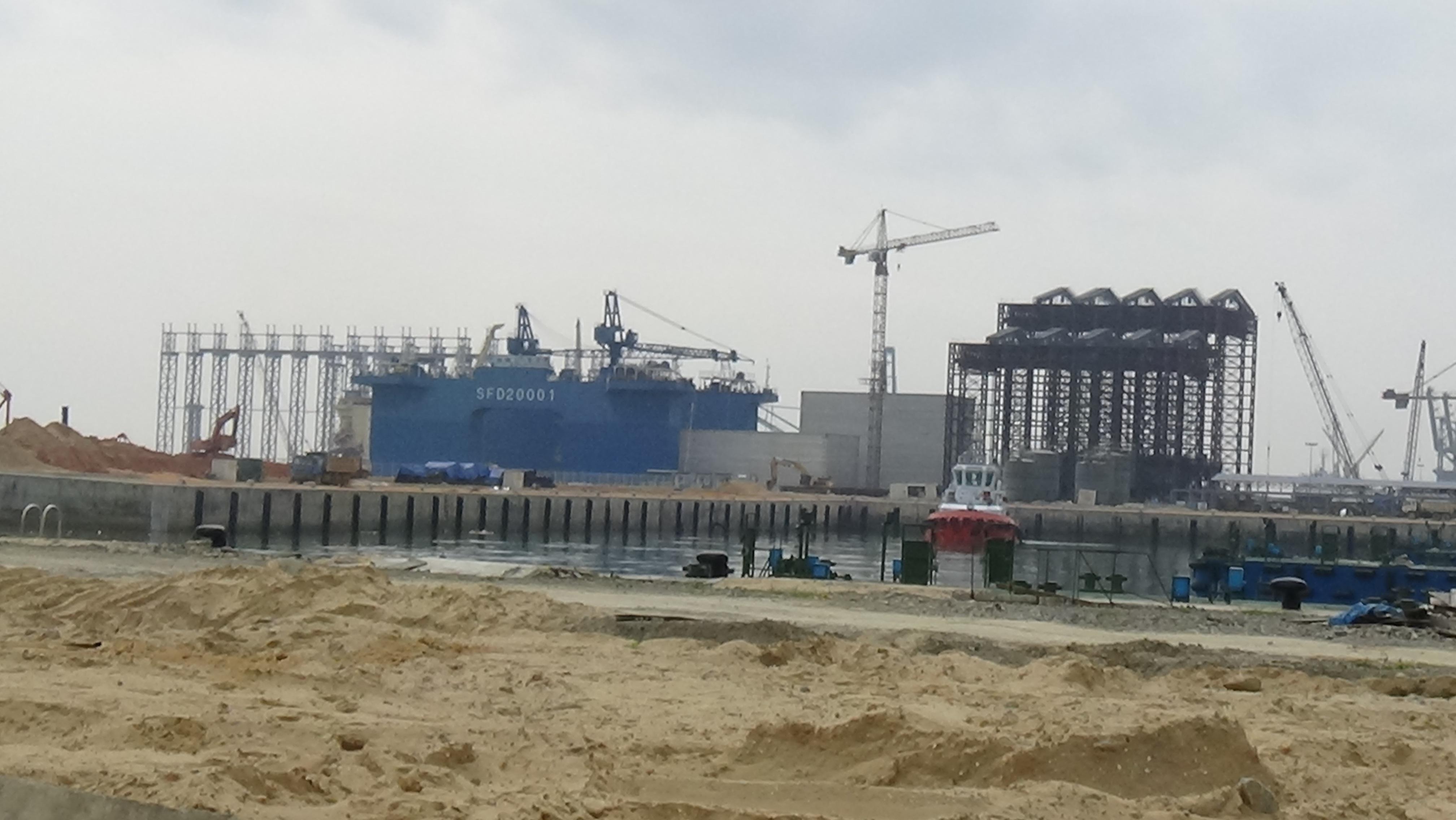 Một phần dự án Formosa tại Khu kinh tế Vũng Áng (Ảnh: Văn Dũng)