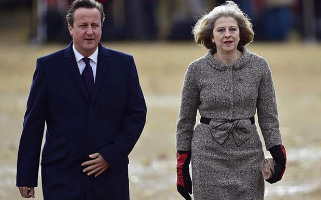 Thủ tướng Anh David Cameron (trái) và người kế nhiệm Theresa May. (Ảnh: PA)