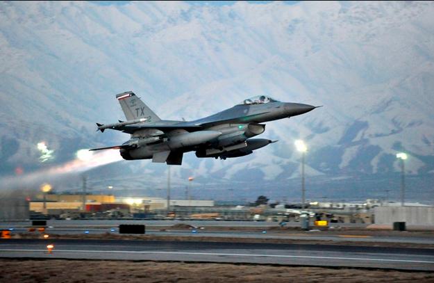 Chiến đấu cơ F-16 của Không quân Mỹ. (Ảnh minh họa: Getty)