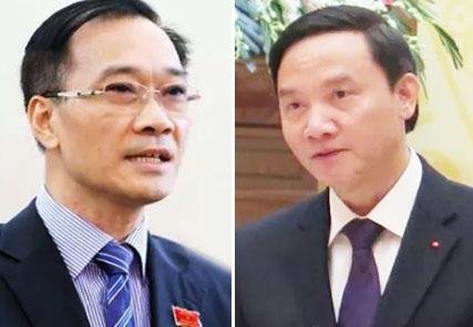 Ông Vũ Hồng Thanh (trái) và ông Nguyễn Khắc Định.