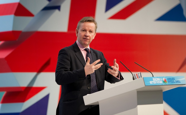 Bộ trưởng Tư pháp Anh Michael Gove. (Ảnh: AFP)