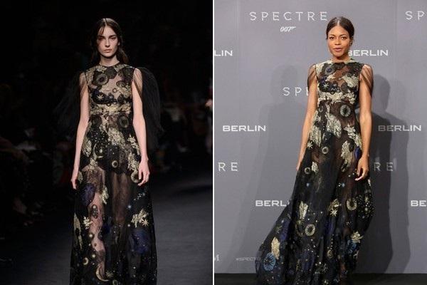 Naomie Harris dịu dàng trong bộ váy Valentino