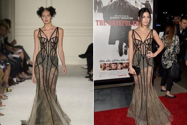 Jenna Dewan-Tatum khoe dáng sexy không kém gì siêu mẫu trong bộ váy của Marchesa