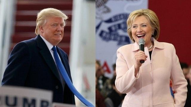 Ứng viên Hillary Clinton (phải) và Donald Trump. (Ảnh: AFP)
