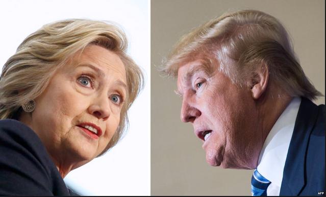 Ứng viên tổng thống Mỹ Hillary Clinton (trái) và Donald Trump. (Ảnh: AFP)