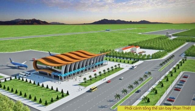 Phối cảnh tổng thể sân bay Phan Thiết (ảnh tư liệu)