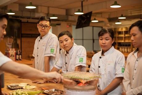 Ngọc Hưng và Thành Khoan trong cuộc thi Taste of Australia 2016. (Ảnh: BTC)