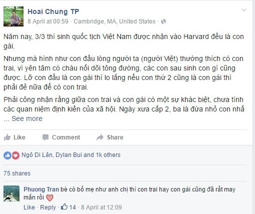 """Bức thư gửi con gái nhỏ của thạc sĩ Đại học Harvard Trương Phạm Hoài Chung """"chiếm cảm tình"""" của rất nhiều người."""