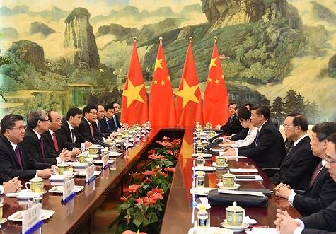 Cuộc hội kiến giữa Thủ tướng Việt Nam và Chủ tịch Trung Quốc diễn ra chiều 13/9.