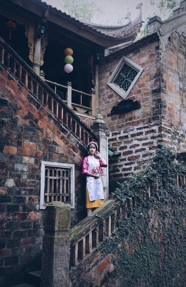 Á khôi du học sinh Việt diện áo dài cách tân đẹp hút mắt - 10