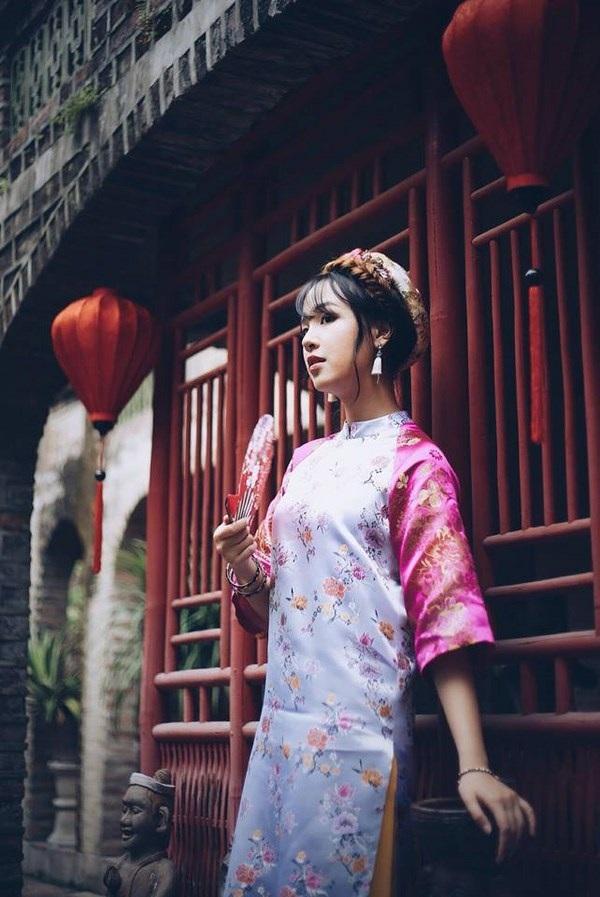 Á khôi du học sinh Việt diện áo dài cách tân đẹp hút mắt - 5