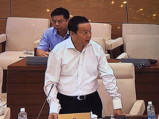 Bộ trưởng Trần Hồng Hà báo cáo với UB Thường vụ Quốc hội những vi phạm đã phát hiện tại Formosa.