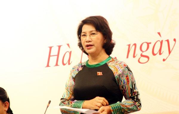 Chủ tịch Quốc hội khẳng định: Việt Nam nhất quán một quan điểm về chủ quyền, chưa bao giờ thay đổi, đó là vấn đề thiêng liêng với mỗi một người dân Việt Nam. (Ảnh: Quang Phong)