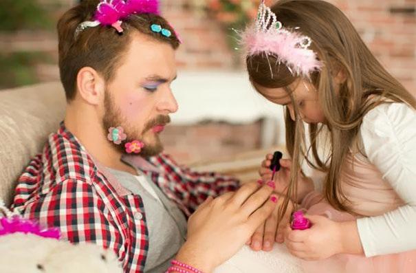 Những khoảnh khắc đáng ngưỡng mộ về bố và con gái - 1