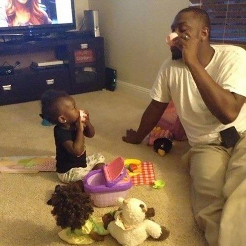 Những khoảnh khắc đáng ngưỡng mộ về bố và con gái - 3